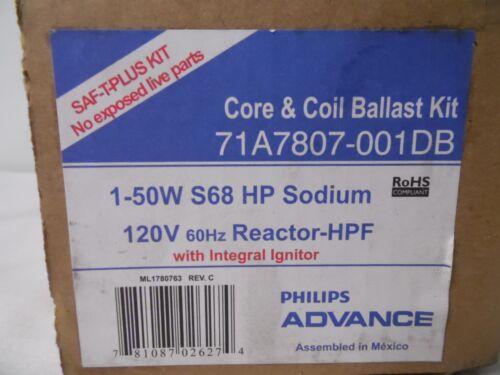 1 50W S68 Lamp Advance71A7807001DB High Pressure Sodium Ballast Kit120//277V for