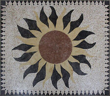 Exquisite Floor Masterpiece Rug Carpet Sun Home Decoration Marble Mosaic CR1243