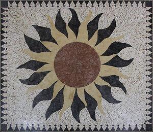 Exquisite Floor Masterpiece Rug Carpet Sun Home Decoration Marble Mosaic CR1243