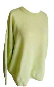 Next Lime Green Jumper Brand New Tags Long Sleeves Winter Soft Knit Size XL