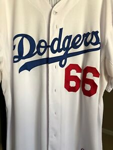 the best attitude 2b1fb 15b88 Details about Yasiel Puig LA Dodgers Jersey Majestic Authentic Cool Base  Baseball MLB Sz 52