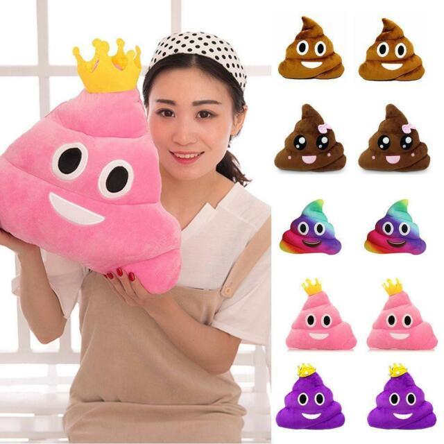 25cm Emoji Emoticon Smiley Cushion Poo Stuffed Cushion Unicorn Kids Xmas Gift