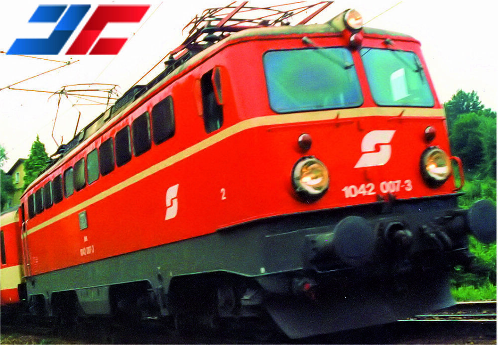 Jägerndorfer 64060 N E-Lok BR1042.007 ÖBB Ep.v , Blood orange Pflatsch