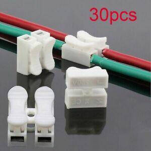 Soudage-par-bande-DEL-Sans-Vis-Ressort-Pince-Terminal-Block-2P-Fil-de-Cable-Connecteur