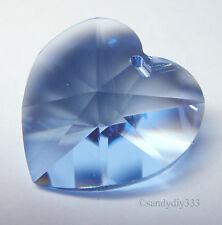 1x SWAROVSKI 6202 Light Sapphire 18mm HEART PENDANT CHARM CRYSTAL BEAD