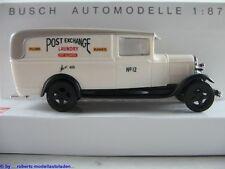 """Busch 47705 Ford Model AA Lieferwagen (1931) """"POST EXCHANGE"""" 1:87/H0 NEU/OVP"""