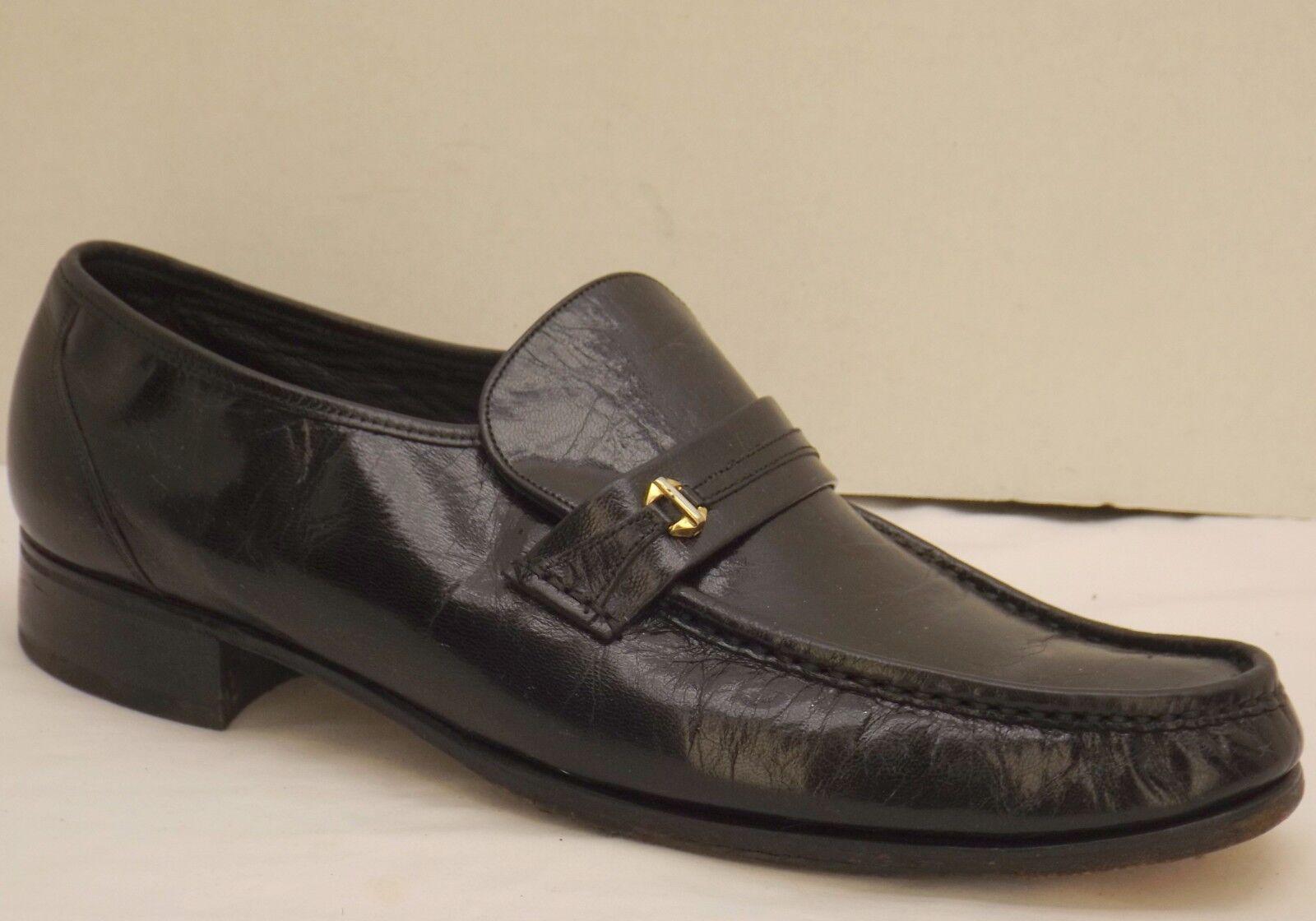 Größe Leder 13 D mens schwarz Leder Größe FLORSHEIM loafers dress schuhe 4a6e37
