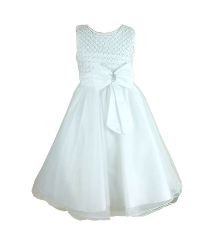 Le Ragazze Fiocco Diamante OCCASIONE Wear Dress damigella festa matrimonio abiti cerimonia