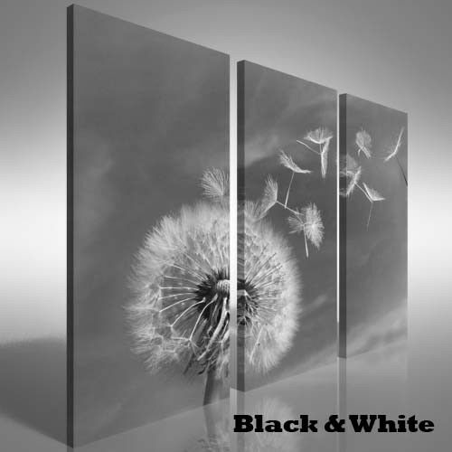 Dandelion Blowing Wind Treble Canvas Print Large Picture Wall Print