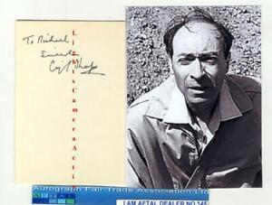 Cyril Shaps vintage signed card AFTAL#145