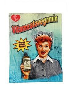 New I Love Lucy Vitameatavegam<wbr/>in Plush Fleece Throw Gift Blanket Lucille Ball