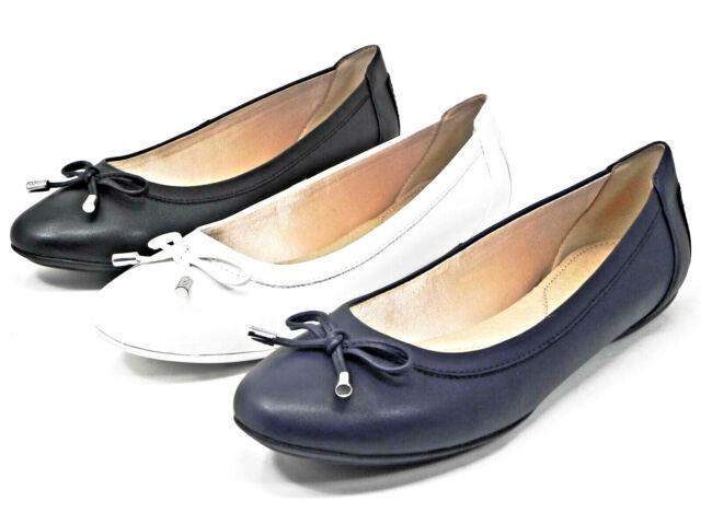 GEOX Ballerine Donna Classiche CHARLENE D02Y7B 0008 Bianco Blu Nero Scarpe PE20
