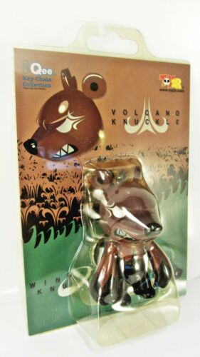 "KNUCKLE BEAR Qee 2.5/"" keychain NEW Elementaler Series VOLCANO Knuckle brown"