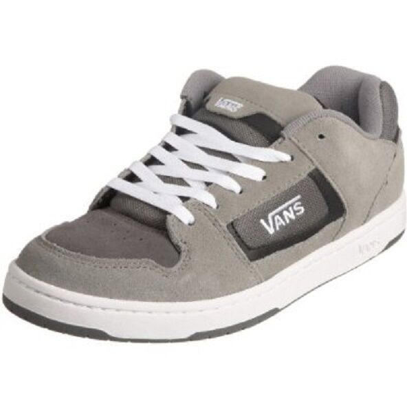 NIB Vans DOCKET GREY CHARCOAL WHITE uomo Skate Sneaker Shoes Scarpe classiche da uomo