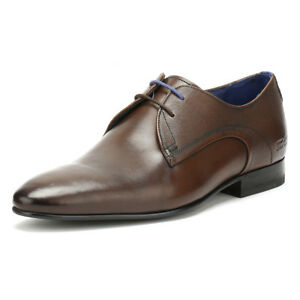 7a0bc908e454b2 Ted Baker Mens Peair Formal Shoes Dark Brown Leather Lace Up Smarts ...
