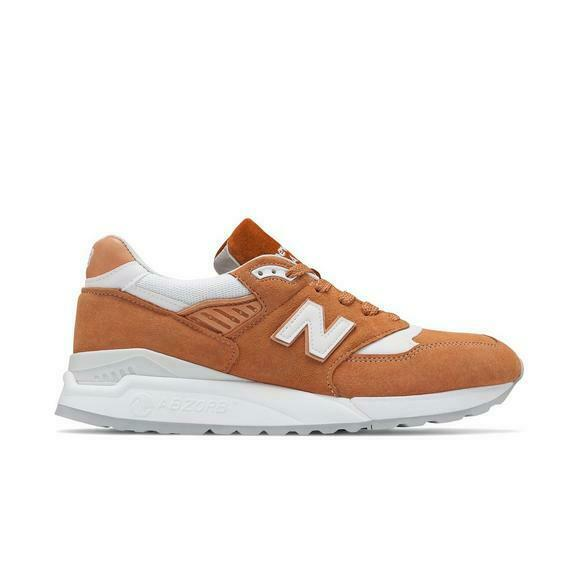 New Balance Men's M998 Lifestyle shoes  Made in USA  Brown Sugar White M998TCC