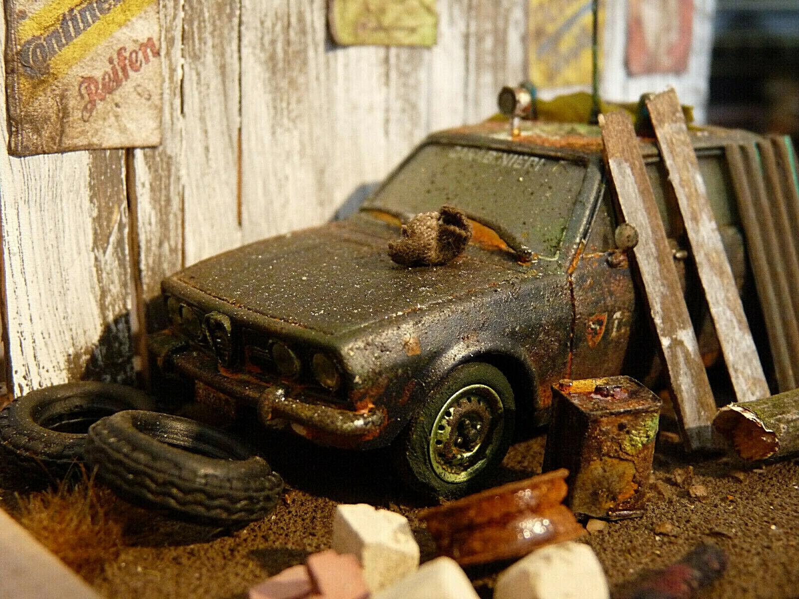 Alfa Romeo Alfetta Bj. 1972-Oldtimer Scheunenfund diorama à l'échelle 1 43