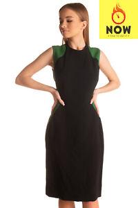 RRP-1360-STELLA-MCCARTNEY-Sheath-Dress-Size-44-M-Fully-Silk-Blend-Lined