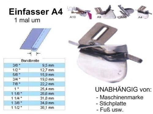 Einfasser A4 offen! 22,2 zu 11 mm UNIVERSELL passend !