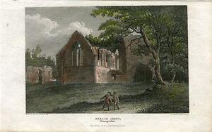 Inglaterra-Glamorganshire-Margam-Abbey-Drawn-By-Smith-Engraved-By-Angus