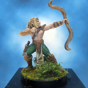 Painted-Ral-Partha-Crucible-Miniature-Royal-Elf-Archer