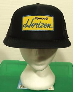 vintage-90-039-s-PLYMOUTH-HORIZON-hat-UNWORN-snapback-PATCH-trucker-mesh-foam