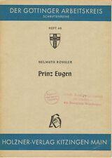 Fachschrift Biographie PRINZ EUGEN, H. RÖSSLER, Göttinger Arbeitskreis, 1954
