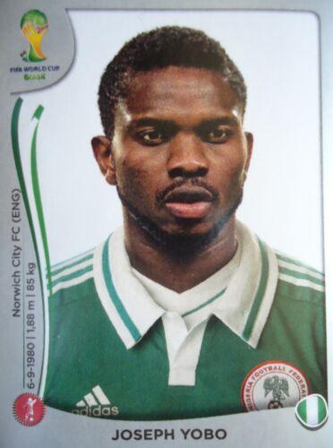 Panini 472 Joseph Yobo Nigeria FIFA WM 2014 Brasilien
