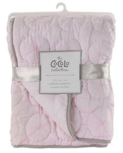 "NEW CoCaLo Pinwheel Quilted Comforter Pink//Purple//Gray 36/"" x 45/"" Voile"