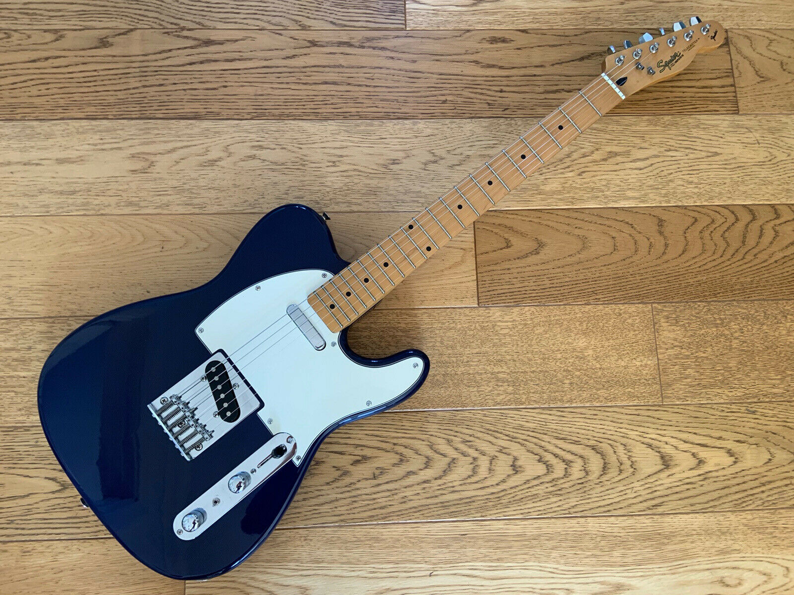 This Squier Telecaster electric guitar is for sale - Squier Telecaster Electric Guitar - Made in Korea - Dark Blue Gold Label '97
