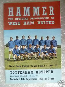 1969-Football-League-WEST-HAM-UNITED-v-TOTTENHAM-HOTSPUR-6-Sept-Youth-Squad