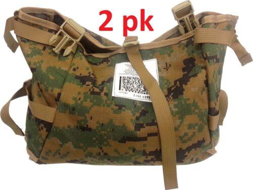 2pk Digital Woodland Camo USMC MARPAT US Official Military Utility Radio Pouch