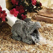 Dragon Sculpture Rain Gutter Downspout Water Drain Spout Statue Halloween Decor