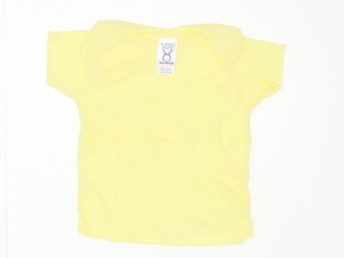 NEW Rabbit Skins Envelope Fold Toddler Tee T-Shirt Yellow 12 Months 01680
