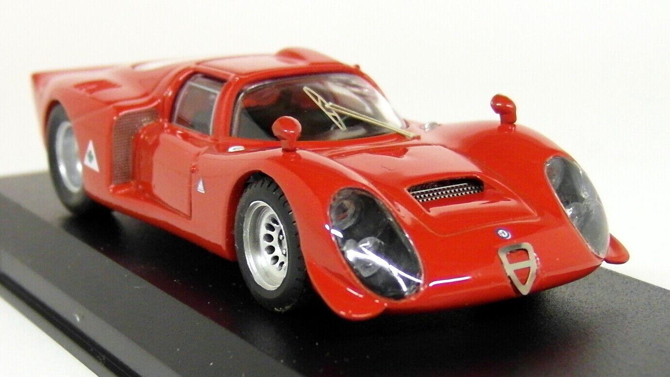 BEST 1 43 échelle 9114 ALFA ROMEO 33.2 Prova rouge Diecast Voiture Modèle