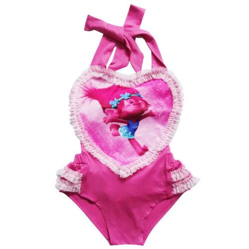 Baby Girls Kids Character Swimwear Swimming Costume Swimsuit Bikini Beachwear UK