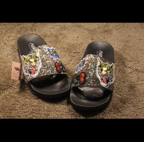 Air balance glitter slides size 5-10