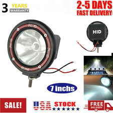 New 7 Inches 4x4 Off Road 6000k 55w Xenon Hid Fog Lamp Light Spot Euro Beam Usa