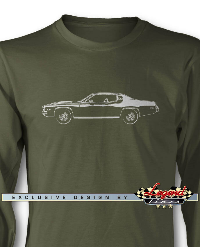 1973 Plymouth Road Runner Coupe Long Sleeves T-Shirt - Multiple colors and Sizes