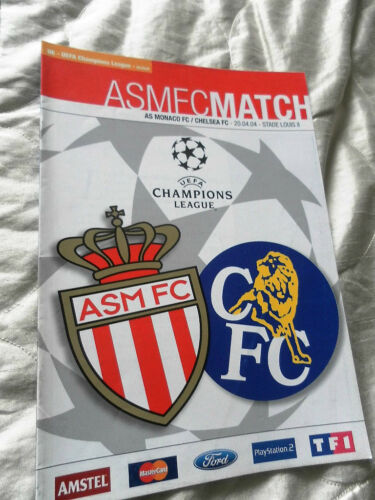 2004 CHAMPIONS LEAGUE SEMI FINAL AS MONACO V CHELSEA