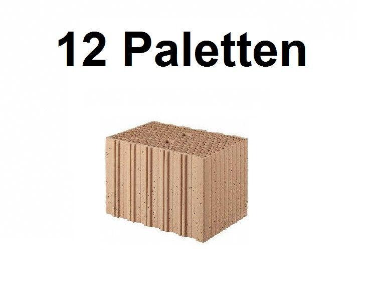 12 Pal. Planziegel PGoldTON-T10 (36,5 cm) 8 0,65 Ziegelstein Planstein Mauerwerk