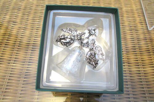 1988 Hallmark Heirloom Ornament QX4064 SilverPlated Angels Lead Crystal Bell LE