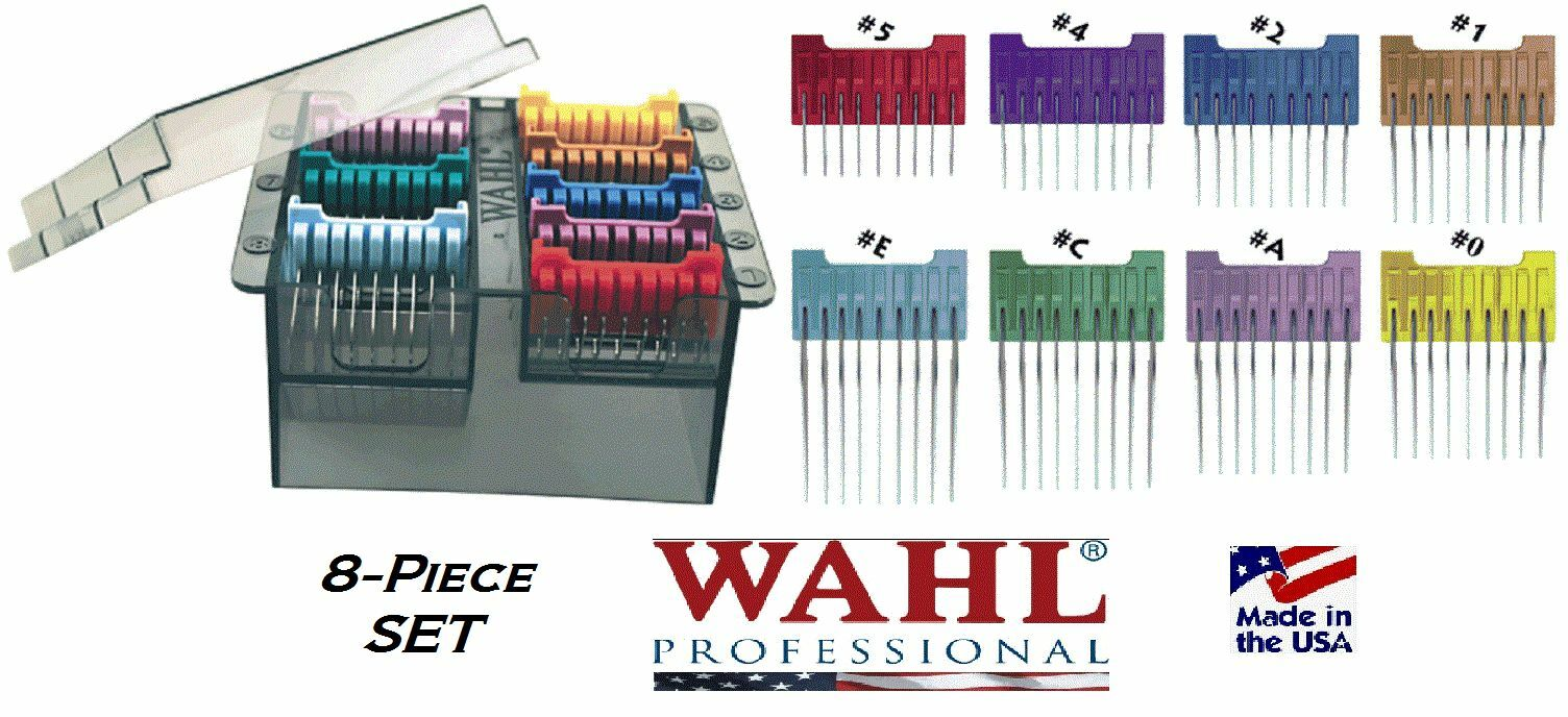 Wahl 5-in-1 Stainless Steel Attachment Snap on Guide Comb Set For Bravura Arco