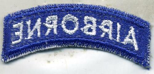 US Army Airborne Blue /& White Patch Tab Cut Edge
