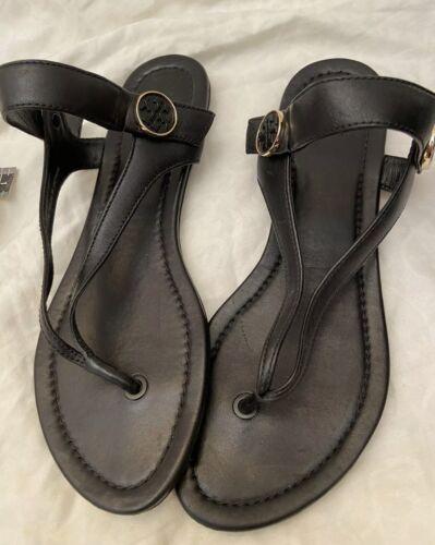 Tori Burch Sandels With Adjustable Ankle Straps Bl