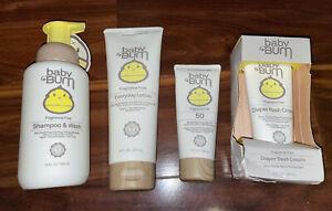Sun Bum Baby Bum Fragrance Free Shampoo Wash Lotion SPF Diaper Rash Cream Lot