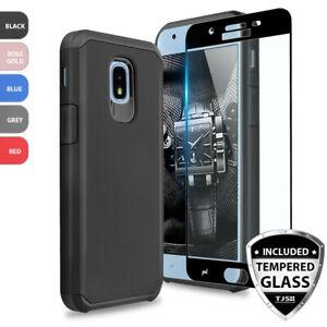 super popular 38b8d 031a8 Details about For Samsung Galaxy J3 Orbit/Star/V 2018 Shockproof Rubber  Case+Tempered Glass