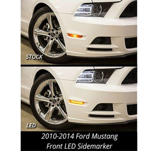 2010-2014 Ford Mustang Front Rear Side LED Smoked Marker Lights Diode Dynamics
