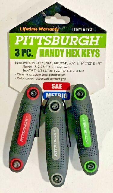 SAE//Metric//Torx Folding Hex Key Set 3 Pc.