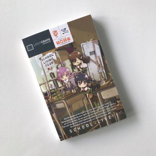 "New Loot Anime Crate /""Humanity/"" Exclusive School-Live Volume Vol 1 Manga Book"